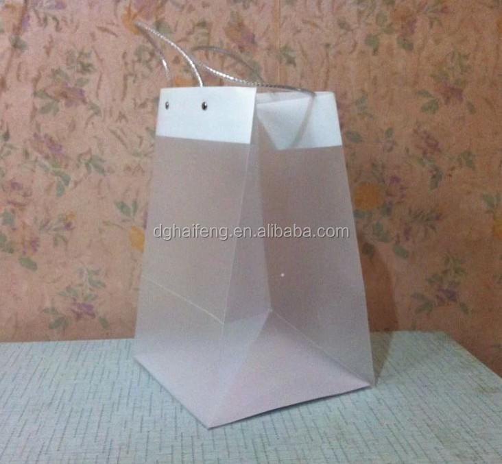 PO shopping bag clear carry bag plastic handbag