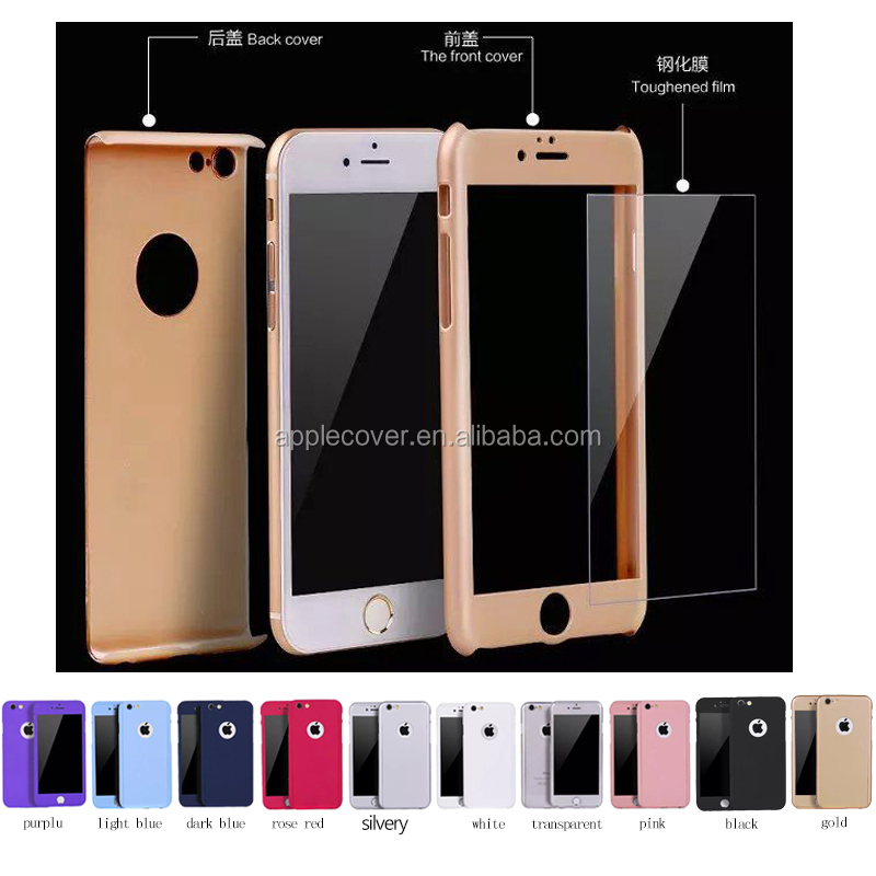 High quality factory make plastic hard case for iphone 6S with tempere grass, for iphone 6S protective case cover