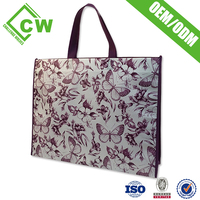 Custom Printing Recycled Standard Size Shopping Bag With Zipper