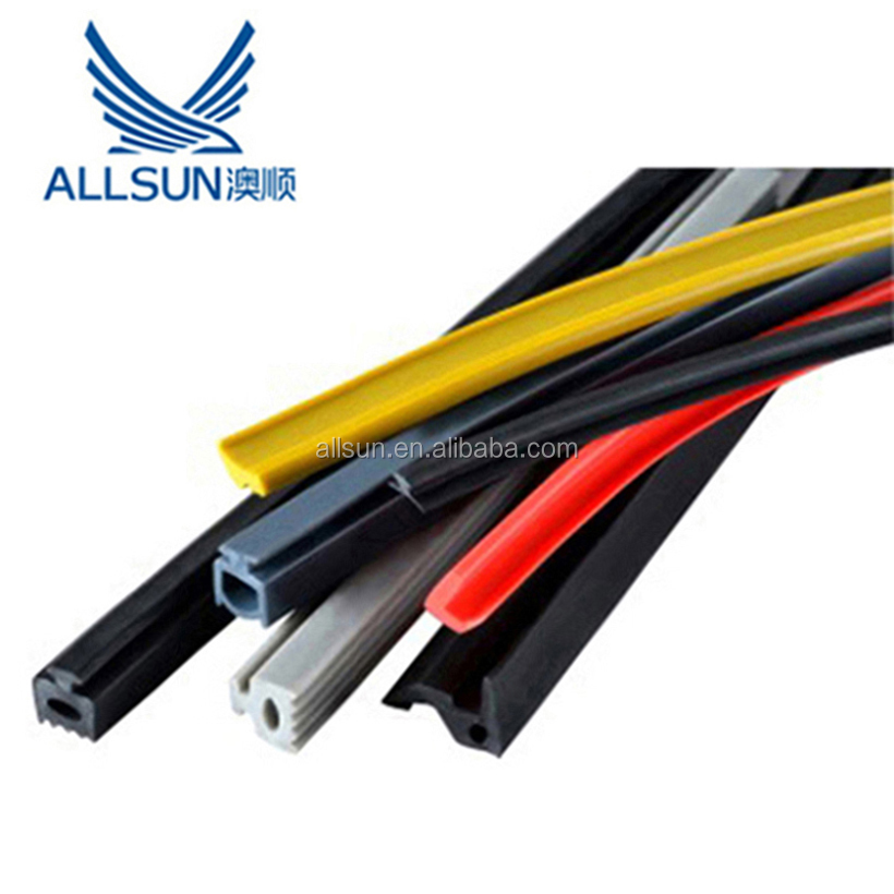 rubber extruded slot bulb seal, slot weather seal for doors