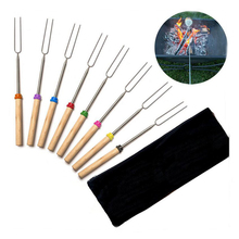 Long Bbq Barbecue Stainless Steel Corn Stick Telescopic Campfire Extendable Meat Handler Fork