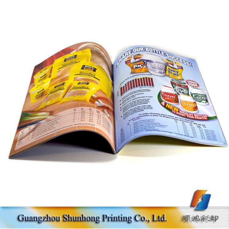 High quality full color printing book catalog printing with perfect binding