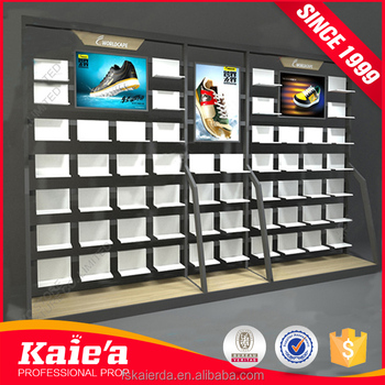 2017 Kaierda new design metal nike shoe rack display