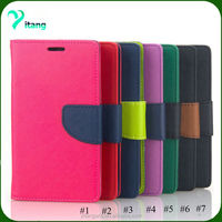 Beautiful Contrast Color Painting Design Wallet Flip leather Case for iphone7/7plus