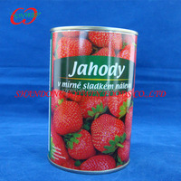 Canned strawberry syrup frozen strawberries, canned fruits supplier