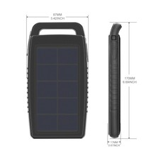 Factory Wholesale ROHS Solar Sunpower Panel High Quality Cheap Price 25000 Mah Power Bank For Sony