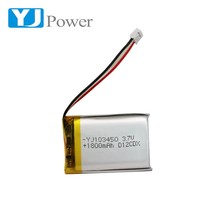 High safety performance rechargeable battery 3.7V 103450 1800mah Lithium polymer battery for POS machine