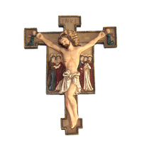 Popular handicraft resin jesus on the cross figurines for home decoration