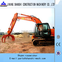 EC55 Excavator Hydraulic Rotating Grab for forestry, excavator parts