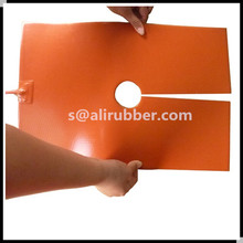 Custom Made Silicone Rubber Heater Stick On Glass Aluminium Plate