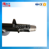 Auger pile foundation telescoping pipe/drilling rod