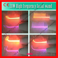 Hot!!! violet-ray-derm--wand high frequency massager for Acne Treatment