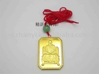 gold charm with religion element (OEM)