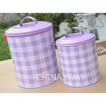 pink stainless steel bread box and canister set