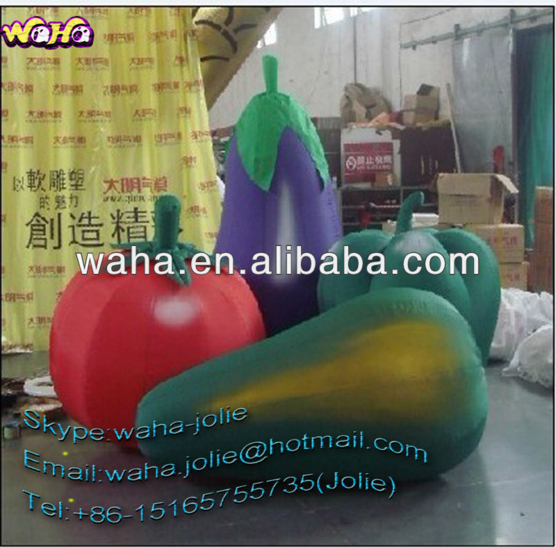 Best selling exhibition/promotional/event/advertising inflatable vegetables /inflatable cucumber/inflatable tomato