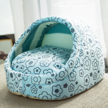 Soft Warm Stuffed Animals Beds House Puppy Sleeping Mat Pad Pet Hooded Dog Bed Animal Covered Outdoor washable Bed