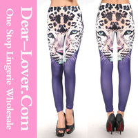 2014 new Leopard Head Print naked woman leggings girls pics