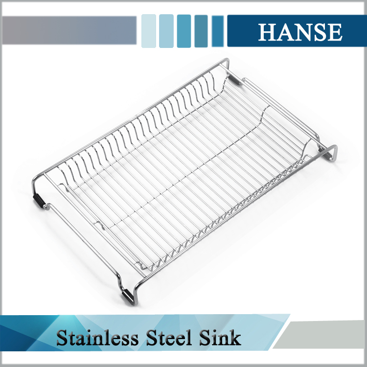 L06 Stainless Steel Sink Grids Roll Up Drying Rack Silicone