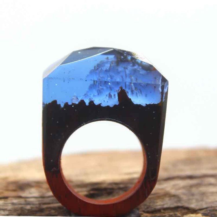 Secret Wood Ring Magic Black Tree Smart Ring OEM Factory