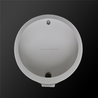 Round shape under- mount with milky color artificial stone sinks