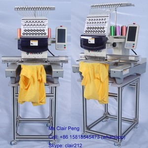 High speed one head barudan type embroidery machine prices with 15 needles