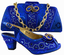 AB8379#5 Latest Noble Design African Shoes And Bags Italian Matching Shoe And Bag Set Nigerian High Heels