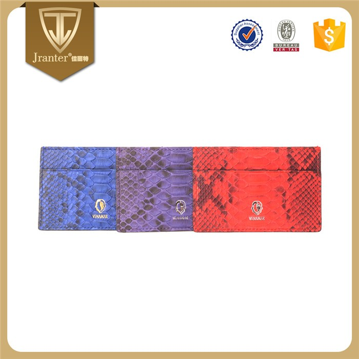 Latest New Customize 100% Genuine Python Snakeskin Leather Credit Card Holder _1