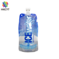 Leak proof OEM plastic aluminum foil bag soft food drink packaging pouches with spout