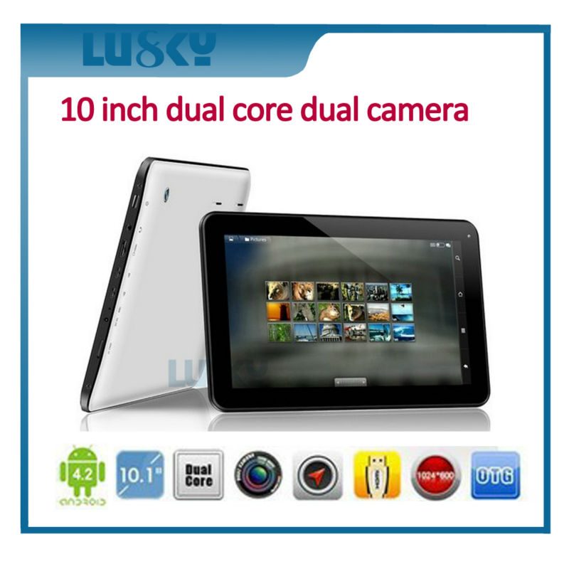 tablet pc with keyboard and Micro card 10.1 inch dual core tablet pc android 4.4 two cameras