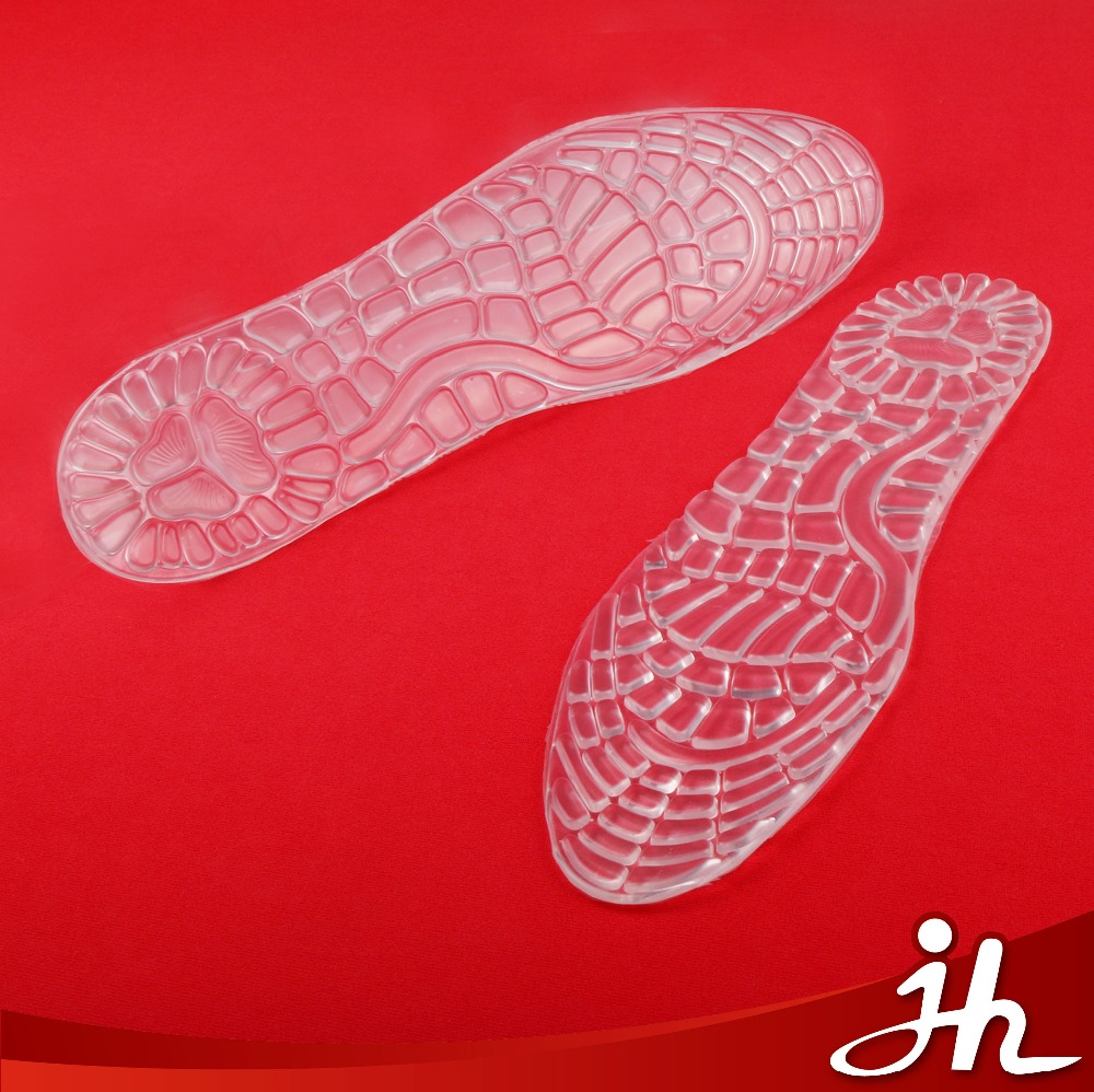 Most Popular transparent massage self-adhesive silicone gel insole manufacturer