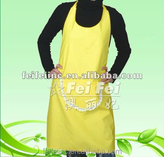 Eco-friendly yellow polyester Apron