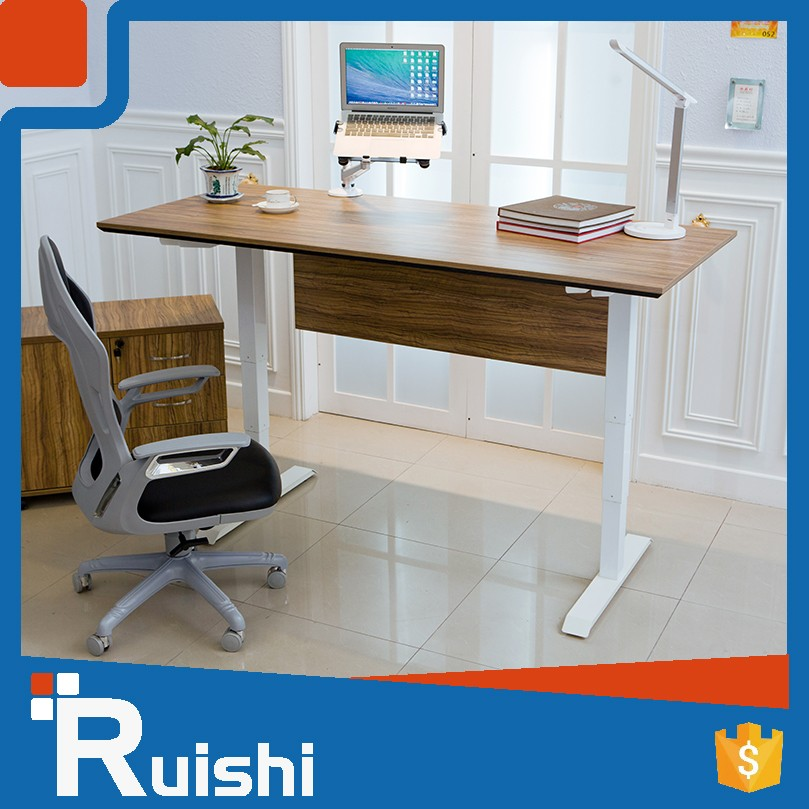 2-Leg Powder Painted Steel Tube Made In Office Furniture China Lifting Adjustable Table