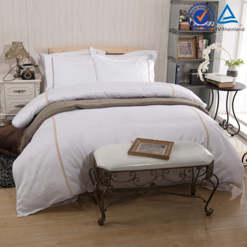 Pure White 100 Cotton Hotel Bed Linen/Hotel Bedding Sets