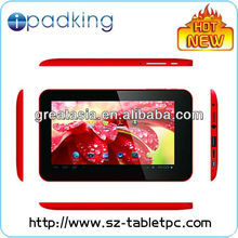 "New arrival 7"" capacitive Allwinner A20 dual core android 4.2 OS double cameras a20 tablet,android mid"