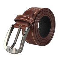 2015 fashion brown wide man belt made of genuine leather
