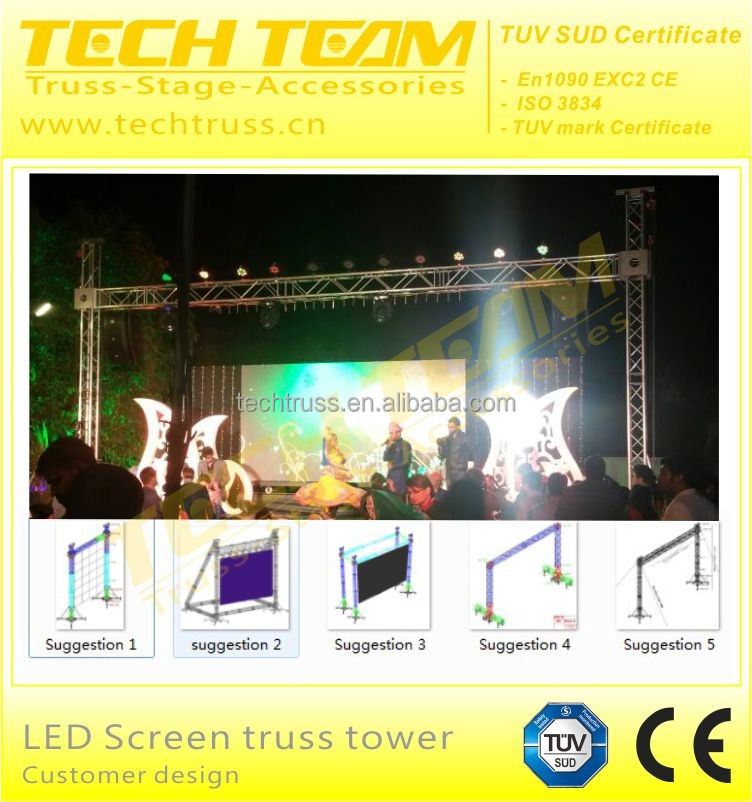outdoor event led truss display led screen truss/back support heavy lifting
