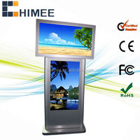 42inch cheap lcd display advertising monitor dual screen 1920x1080 (HQ42-42-2,support usb/cf/sd card)