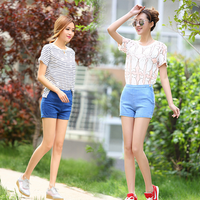 Alibaba latest design summer women short pants korean vintage style sexy tight slim ladies jeans