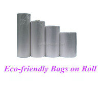 HDPE Plastic Flat Food Packaging Bags on Roll