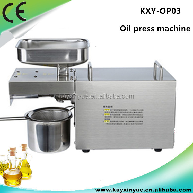 Best selling stainless steel mini oil press/hemp seed oil press machine