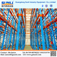 Industrial Metal Shelving Drive In Pallet Racking System
