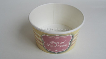 kraft paper cup / ice cream cup paper with lid