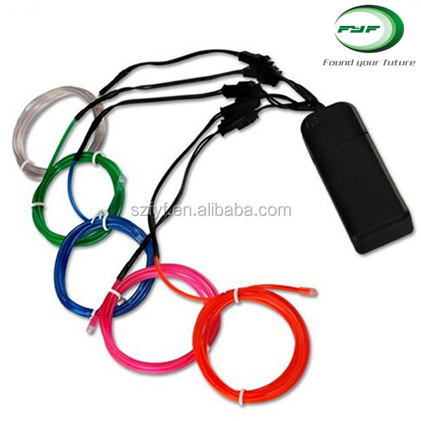 Wholesale decorative sewable el wire with 10 colors