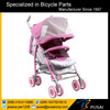 360 handle bar pink baby stroller with 6 inch suspention wheel