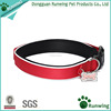 Reflective Nylon Padded Dog Collar with Buckle and Id Tags