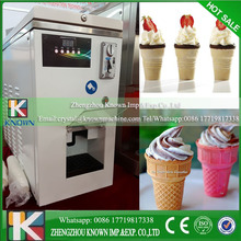 Coin and Token Operated Automatic Vending Soft Ice Cream Machine