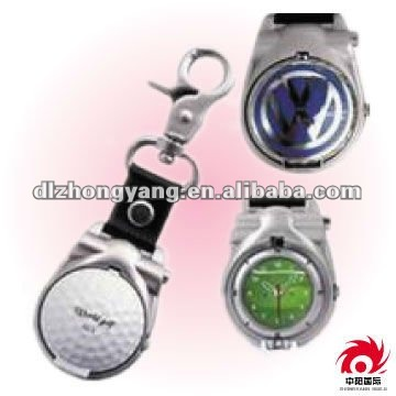 wholesale Golf modelling Creative gifts Men's Pocket Watch key chain