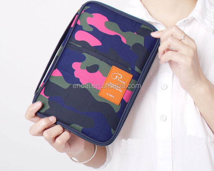 Encai Camouflage Passport Bags Organizer Large size Passport Holder For Tickets & Cards