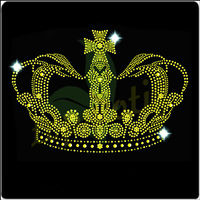 Beautiful Heat Transfer Crown Rhinestone Designs Embellishments
