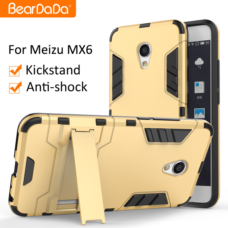 Hybrid 2 in 1 Shockproof kickstand for meizu mx6 cover case